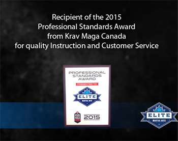 2015 Krav Maga Canada recipient of the Professional Standards Award